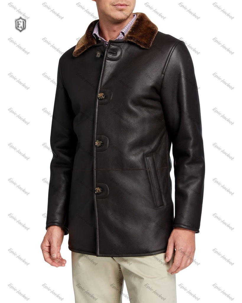 Epic Men's Lamb Leather & Shearling Jacket