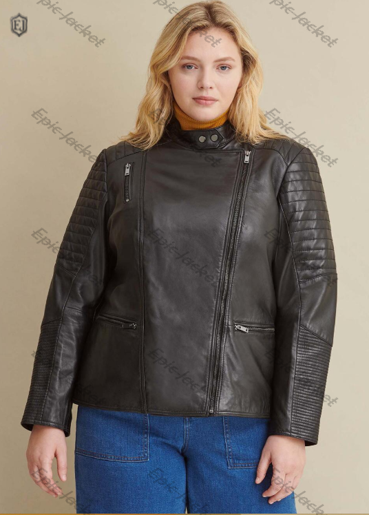 Epic Size Quilted Women Leather Jacket