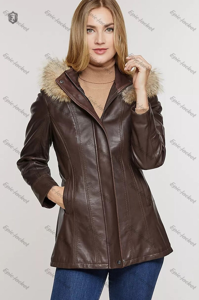 Epic African Lambskin Women Leather Coat