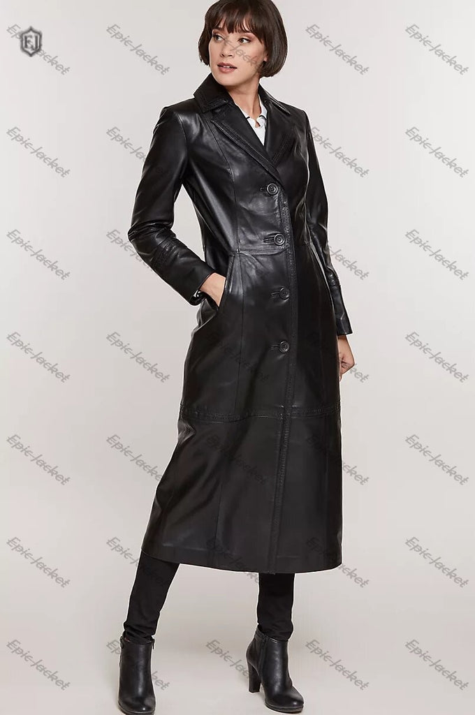 Epic Full Length Italian Lambskin Leather Coat