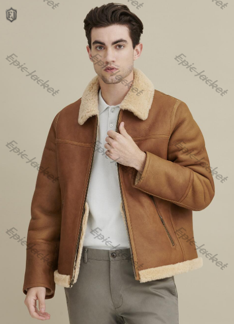 Epic Sherpa Shearling Zip Front Jacket
