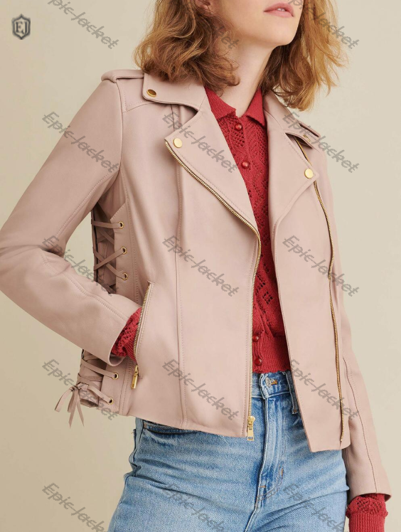 Epic Women Leather Jacket With Side Lacing