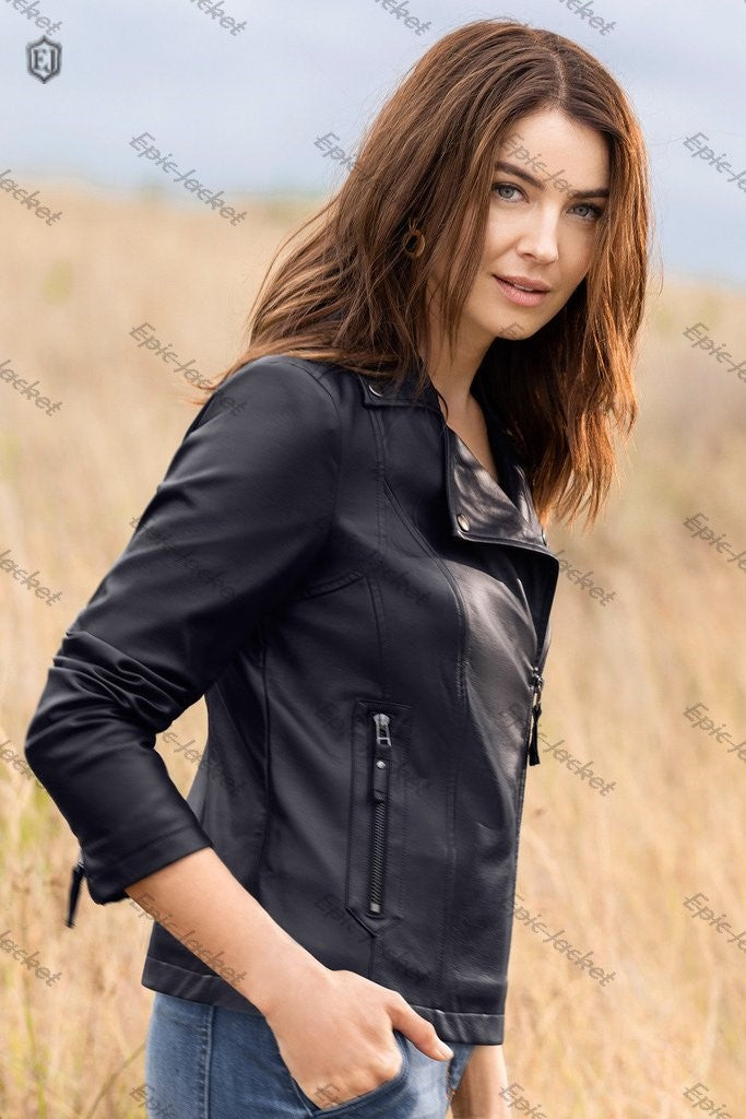 Epic Women leather biker jacket