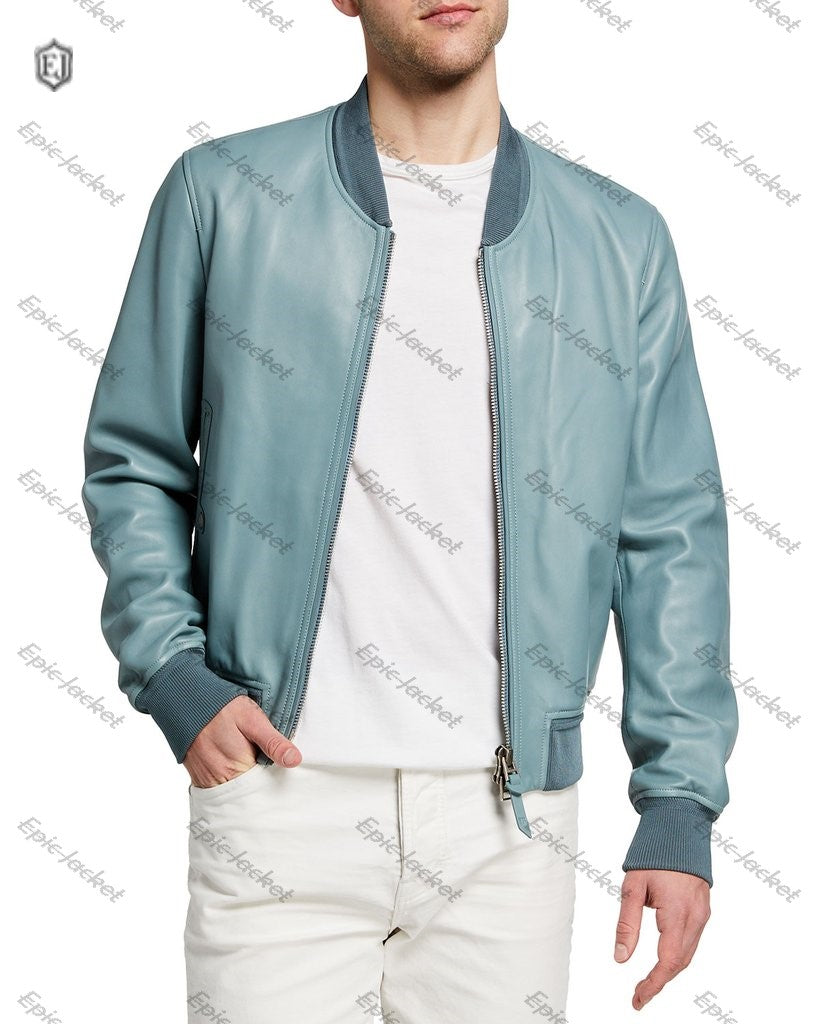 Lamb Leather Bomber Jacket