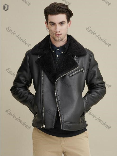 Asymmetrical Epic Faux Shearling leather Jacket