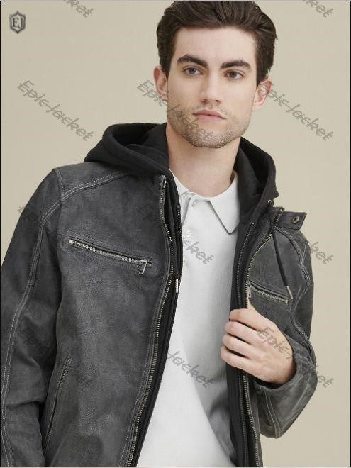 Epic Hooded Leather Jacket