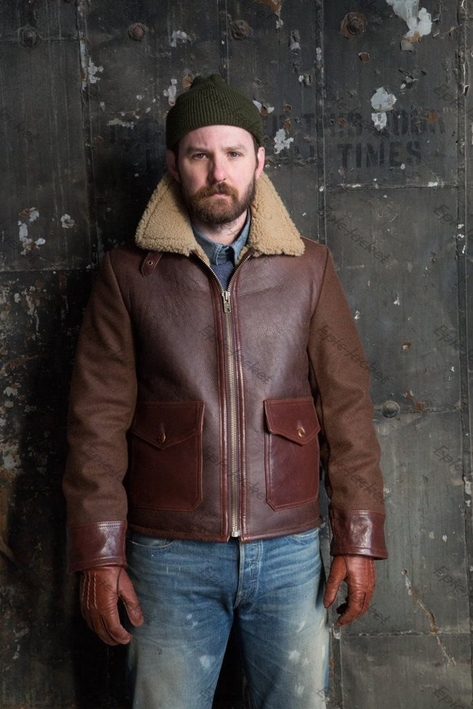Epic Men's Combination Leather Jacket
