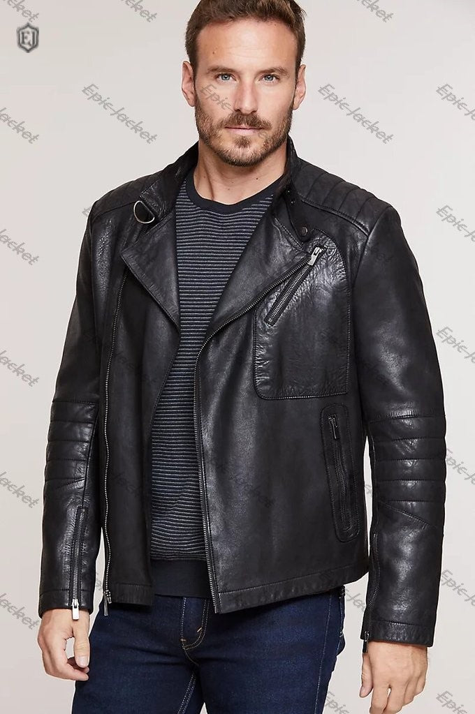 Epic Marty Lambskin Men Leather Moto Jacket