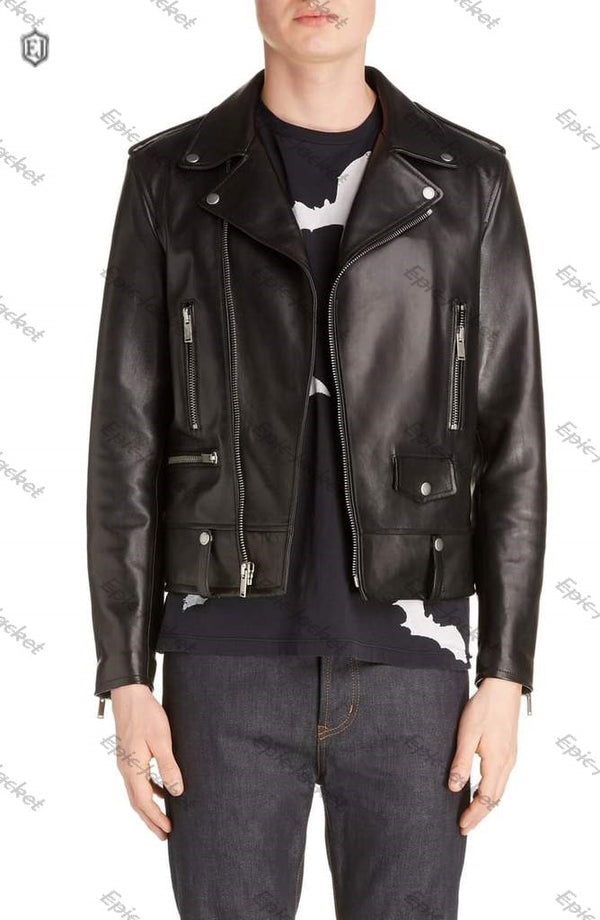 Epic Mens Leather Moto Jacket
