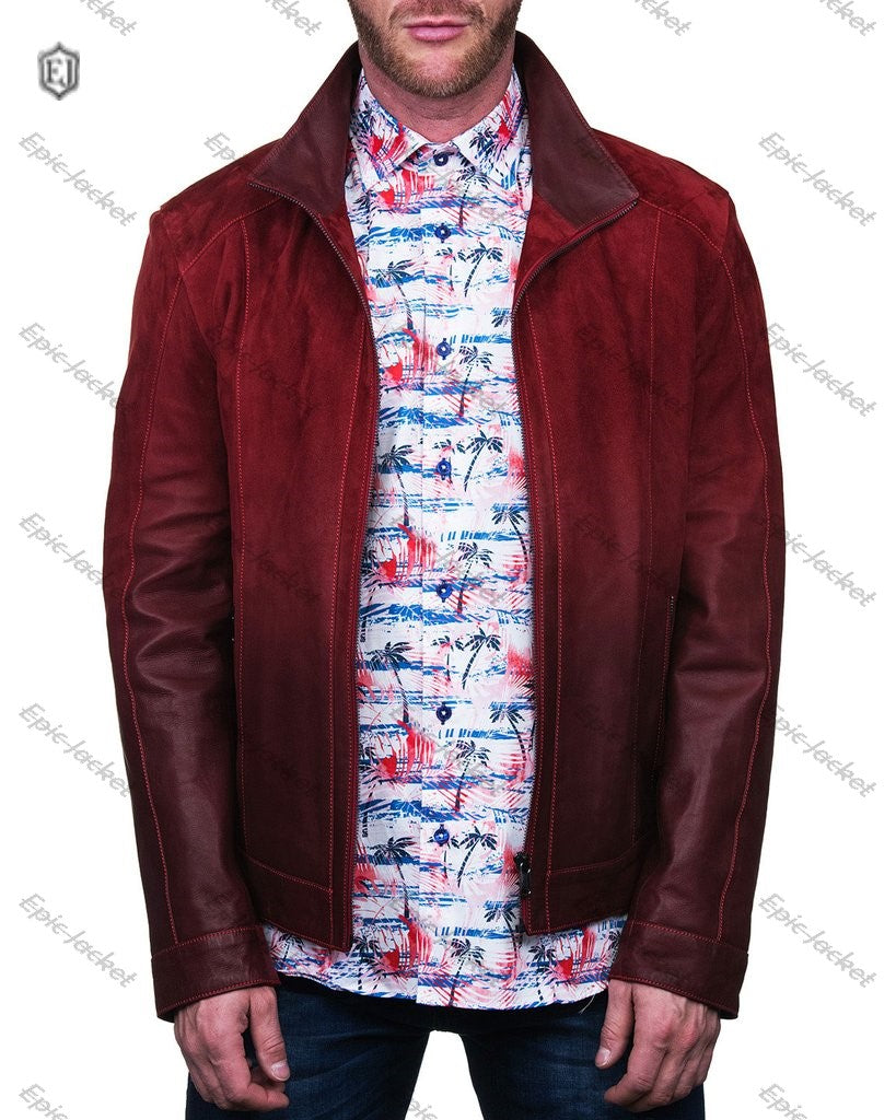 Epic Men's Ombre Zip-Front Leather Jacket