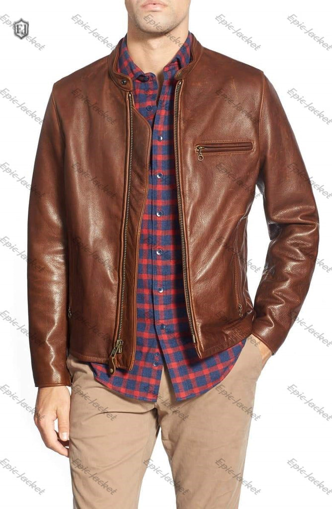 Epic made Oil Tanned Leather Moto Jacket