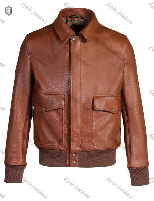 Epic Lightweight Cowhide Flight Leather Jacket