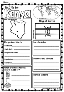 Africa - Kenya Picture Book