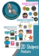Load image into Gallery viewer, Math - 2D Shape Poster Set