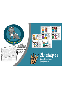 Math - 2D Shape Clip Cards - Name the Shape