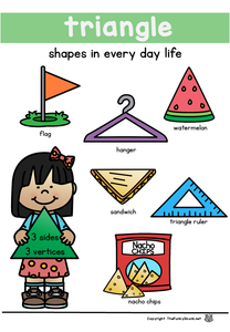 Math - 2D Shape Poster Set