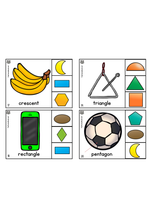 Load image into Gallery viewer, Math - 2D Shape Clip Cards - Match the shape