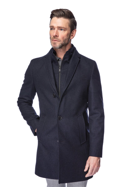 Coat Single Breasted Navy