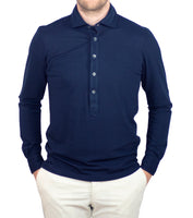 Unique Longsleeve Polo Navy