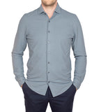 Ice Cotton Wrinkle Free & Stretch Longsleeve Shirt Grey