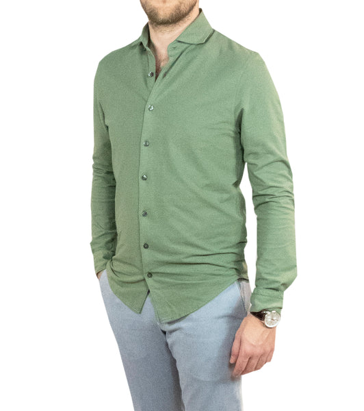 Ice Cotton Wrinkle Free & Stretch Longsleeve Light Green