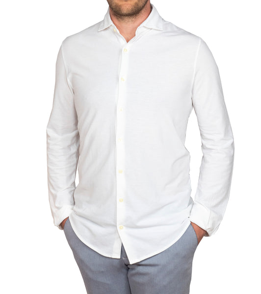 Ice Cotton Wrinkle Free & Stretch Longsleeve Shirt White