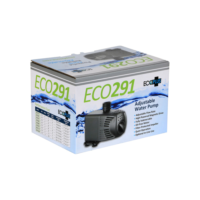 EcoPlus Adjustable Flow Submersible or Inline Water Pumps