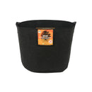 Gro Pro Essential Round Fabric Pots with Handles - Black