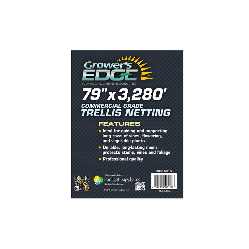 Grower's Edge® Commercial Grade Trellis Netting Bulk Rolls