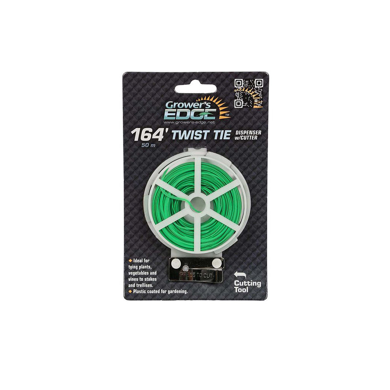 Grower's Edge® Green Twist Tie
