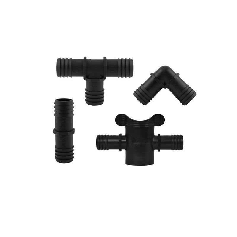 Hydro Flow® Premium Barbed Fittings & Valves with Bump Stop 3/4 in
