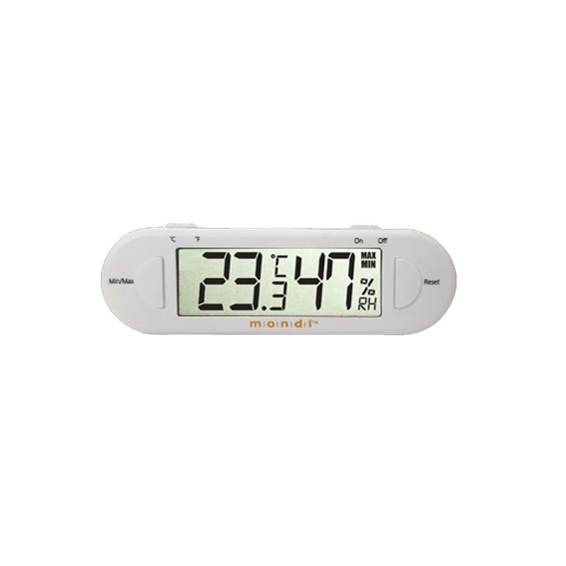 Mondi Mini Greenhouse Thermo Hygrometer White