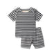 Ribbed baby two piece  in black striped 1