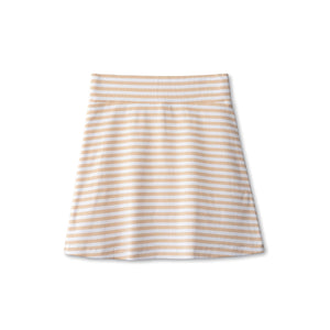 Ribbed skirt in sand striped