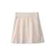 Ribbed skirt in sand striped 1