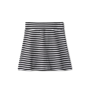 Ribbed skirt in black striped