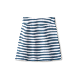 Ribbed skirt in chambray striped