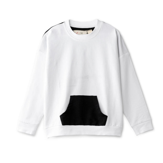 Oversized top in white and black 1