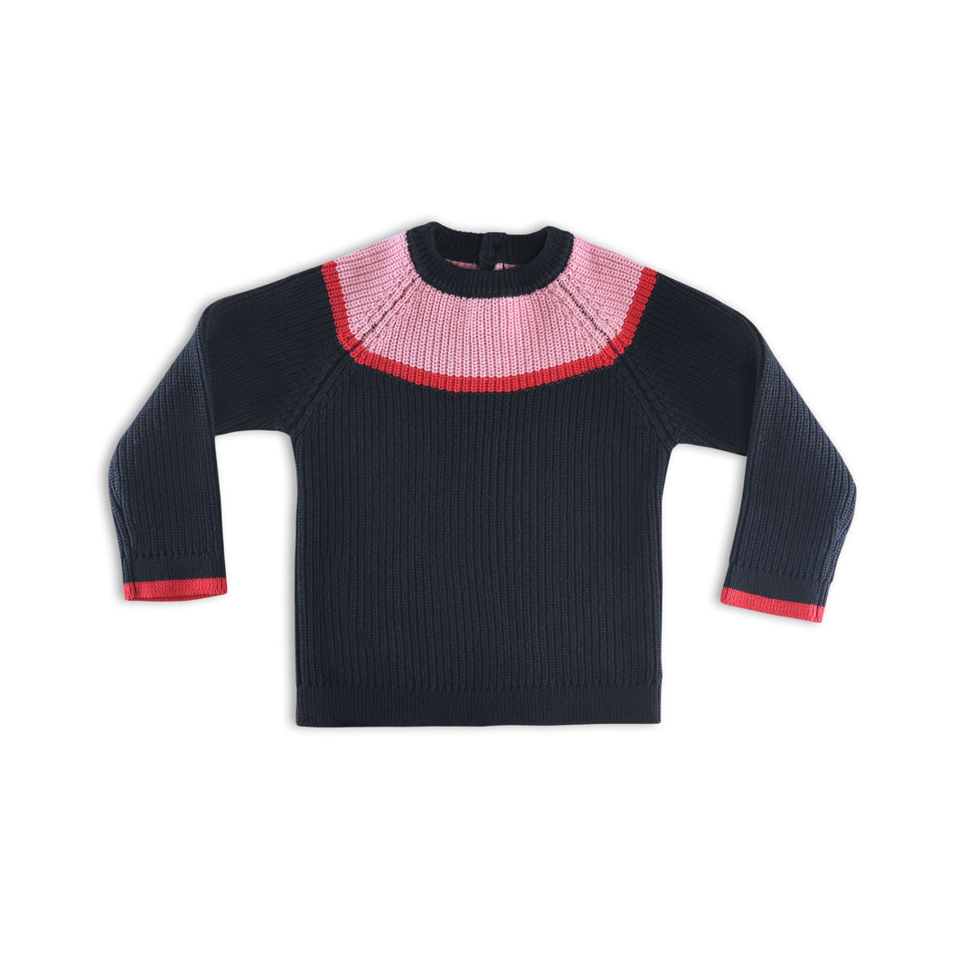 Knit Ribbed sweater for girls