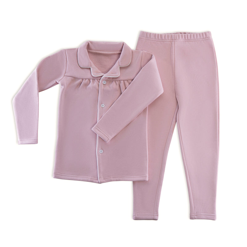 Sweat Grandfather Pajamas in Dusty Pink