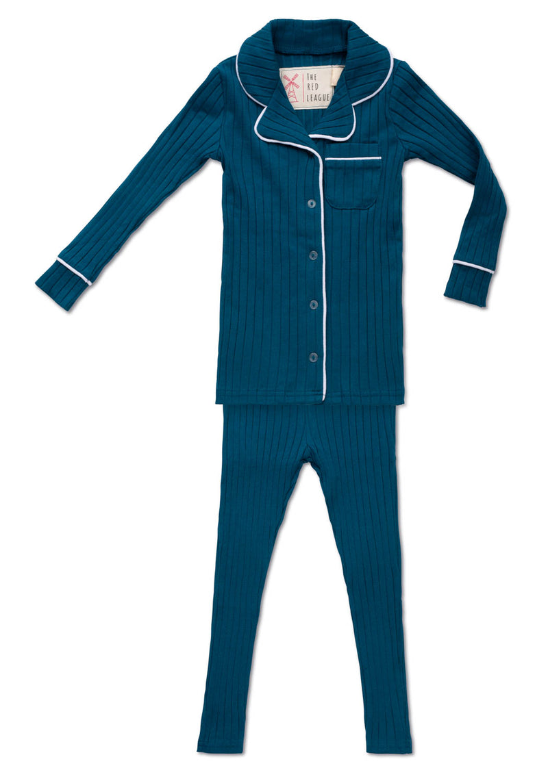 Ribbed Teal Pajamas