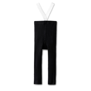 All day comfy leggings in black/white -long