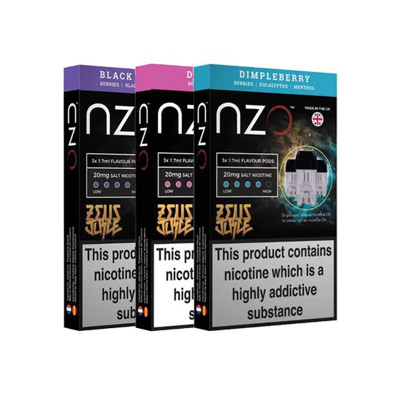 NZO 20mg Zeus Salt Cartridges with Red Liquids Nic Salt (50VG/50PG) - MRH VAPES
