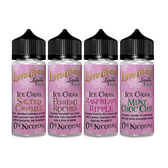 Leprechaun Ice Cream 120ml (100ml Shortfill + 2 x 10ml Nic Shots) (70VG/30PG)