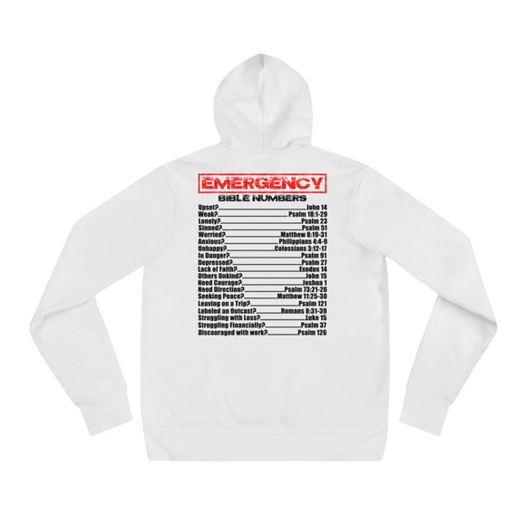 EMERGENCY BIBLE NUMBERS Unisex hoodie