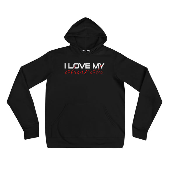 I LOVE MY CHURCH Unisex hoodie Black