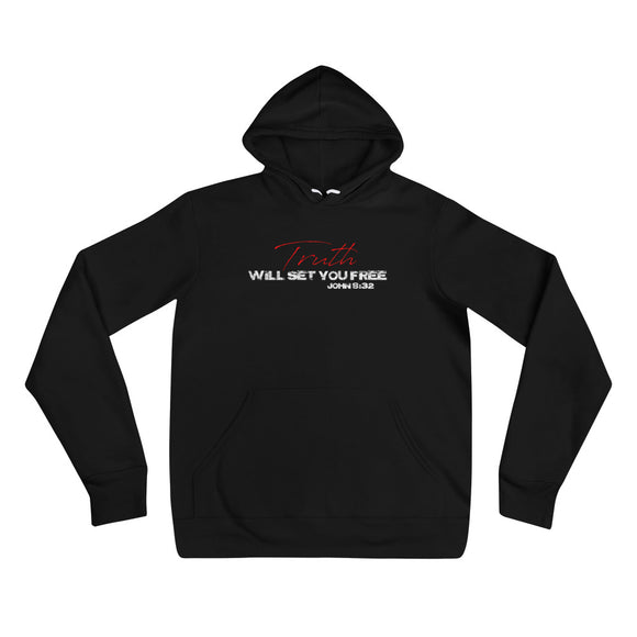TRUTH WILL SET YOU FREE Unisex hoodie Black