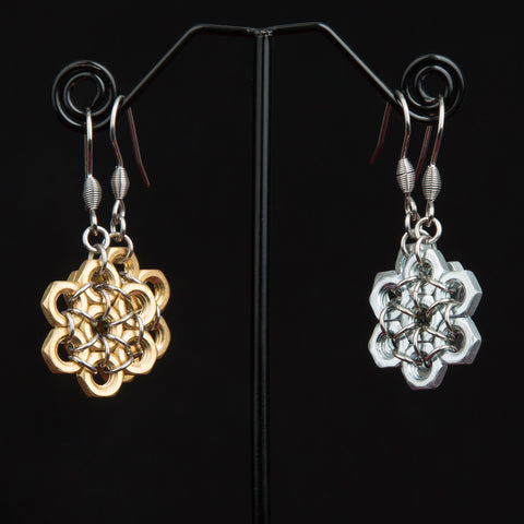 Beehive Hex Earrings