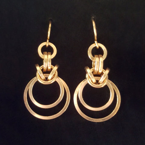 Staggered Byzantine Earrings