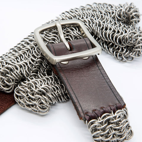 Steel and Leather Belt